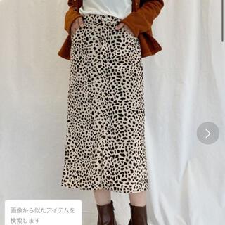 アズールバイマウジー(AZUL by moussy)のPICCIN アニマル柄スカート 定価5300円 ⚫️難アリ!見た目は綺麗です(ひざ丈スカート)