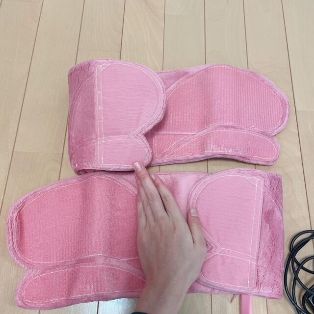OMRON(オムロン)のオムロン レッグマッサージャー ピンク 脚痩せ ダイエット 足痩せ 美脚 コスメ/美容のダイエット(エクササイズ用品)の商品写真