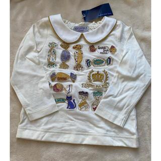 アナスイミニ(ANNA SUI mini)の新品 タグ付き アナスイミニ  刺繍 長袖 キャンディ柄 トップス 90 (Tシャツ/カットソー)