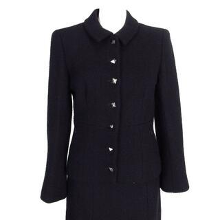 シャネル(CHANEL)のシャネル スカートスーツ レディース - 黒(スーツ)