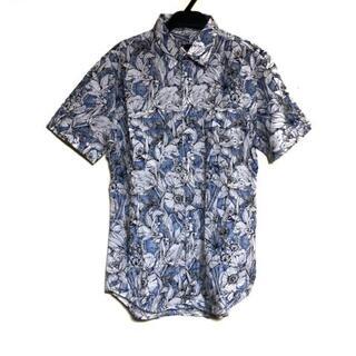 Gucci - グッチ 半袖シャツ メンズ ブルー×白 花柄