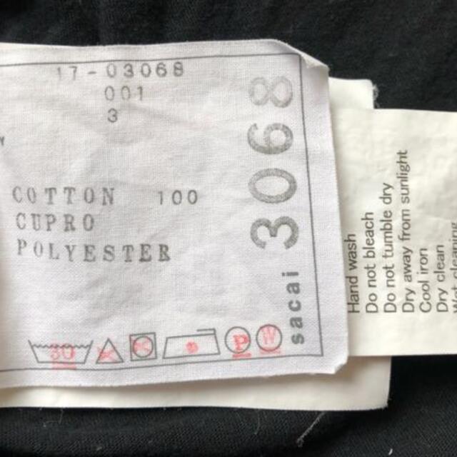 sacai(サカイ)のサカイ 半袖カットソー サイズ3 L - 黒 レディースのトップス(カットソー(半袖/袖なし))の商品写真