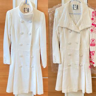 お値下します❤美品 ウールコート トレンチコート ホワイト コート (ロングコート)