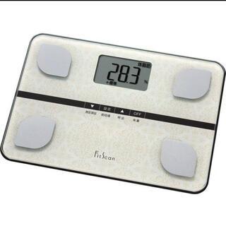 タニタ(TANITA)のタニタ 体組成計 フィットスキャン ホワイト FS-103-WH(体重計/体脂肪計)