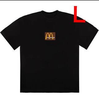 フィアオブゴッド(FEAR OF GOD)の新品 Travis Scott マクドナルド BOXロゴ Tee Lサイズ(Tシャツ/カットソー(半袖/袖なし))