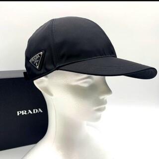 PRADA - 新品✨鑑定済!正規品✨PRADA プラダ キャップ ナイロン プレート ブラック