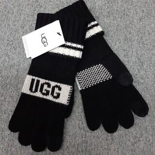 アグ(UGG)の新品 UGG/アグ ニットロゴ グローブ W Touch 20169 BLK(手袋)