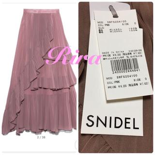 スナイデル(snidel)の新作新品🌷スナイデル シアーボリュームプリーツスカート(ロングスカート)