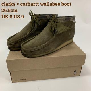 Clarks - クラークス カーハート WIP ワラビーブーツ Olive Camo 26.5