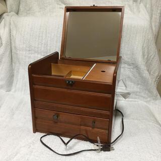 メイク用品収納箱  鏡・コンセント付(メイクボックス)