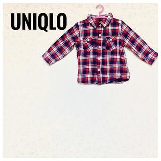 ユニクロ(UNIQLO)の【オシャレさんに】UNIQLO 90cm ネルシャツ/チェックシャツ(ブラウス)