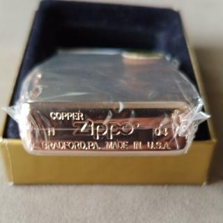 ジッポー(ZIPPO)のZippo solid copper 新品未使用「最終お値下げ!!」(タバコグッズ)