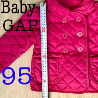 ベビーギャップ(babyGAP)のbabygap❤️ダブルコート❤️ピーコート キルティング ピンク 女の子(コート)