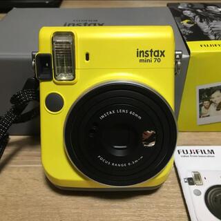 フジフイルム(富士フイルム)のFUJI FILM INSTAX MINI 70 YELLOW 美品(フィルムカメラ)