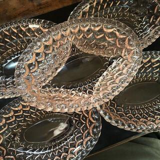 トウヨウササキガラス(東洋佐々木ガラス)の昭和レトロ 「TOYOガラス」5枚セット(食器)