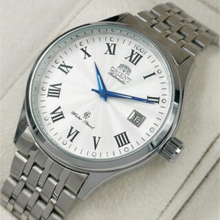 オリエント(ORIENT)の新品オリエント ホワイト ORIENT 腕時計 自動巻き 腕時計 メンズ腕時計(腕時計(アナログ))