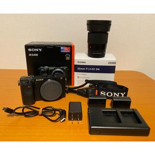 SONY - sony a6400 sigma30mm f1.4