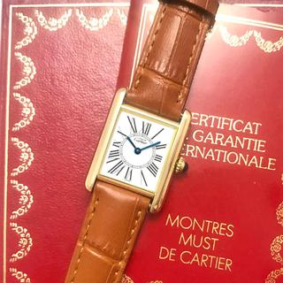 Cartier - 美品✨ カルティエ Cartier マストタンク  オパラン 腕時計