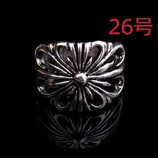 クロス 十字架 透かし彫り シルバー リング 指輪 残り僅か 26号(リング(指輪))
