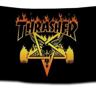 スラッシャー(THRASHER)の新品、未使用 スラッシャー THRASHER タペストリー フラッグ 5(スケートボード)