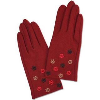 マリークワント(MARY QUANT)の新品 マリークワント 刺繍手袋 赤(手袋)