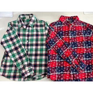 ユニクロ(UNIQLO)のシャツ チェックシャツ 140 男の子 ユニクロ(ブラウス)