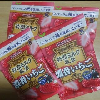 ユーハミカクトウ(UHA味覚糖)の特濃ミルク 濃香いちご 75g×4袋(菓子/デザート)