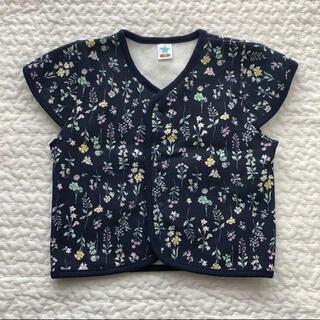 西松屋 - 【80cm】西松屋 花柄スリーパー