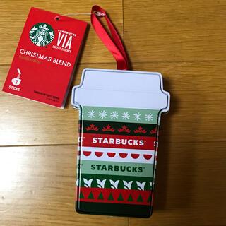 スターバックスコーヒー(Starbucks Coffee)のStarbucks Coffee オーナメント缶 新品 未使用(ノベルティグッズ)