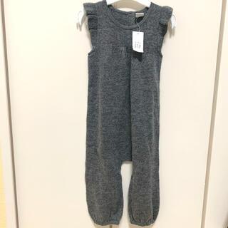 ベビーギャップ(babyGAP)の新品 80サイズ   ベビーギャップ   ニット 肩フリル♡オールインワン(パンツ)
