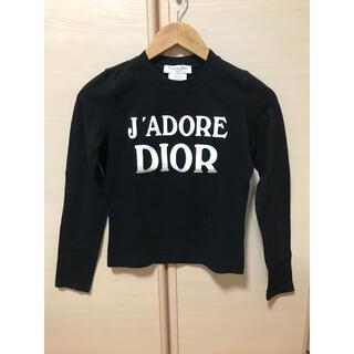 クリスチャンディオール(Christian Dior)のクリスチャン・ディオール J'ADORE Dior ロンTシャツ レディース 黒(Tシャツ(長袖/七分))
