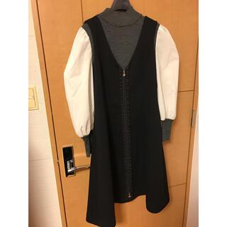 エムズグレイシー(M'S GRACY)のエムズグレイシー 今期ジャンパースカート タグ付き未使用品 40(ひざ丈ワンピース)
