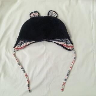 ニシキベビー(Nishiki Baby)のもこもこ耳付き ベビーキャップ 赤ちゃん 帽子(帽子)