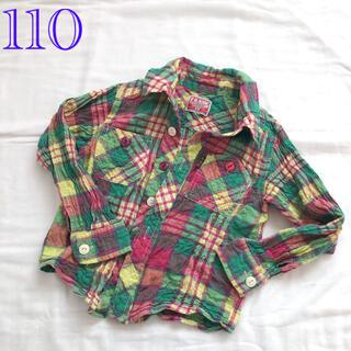 エフオーキッズ(F.O.KIDS)の110 エフオーキッズ くしゅくしゅチェック柄シャツ(Tシャツ/カットソー)
