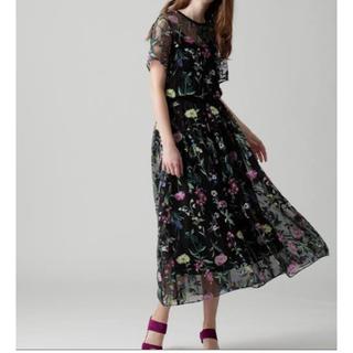 GRACE CONTINENTAL - グレースコンチネンタル フラワー刺繍チュールスカート