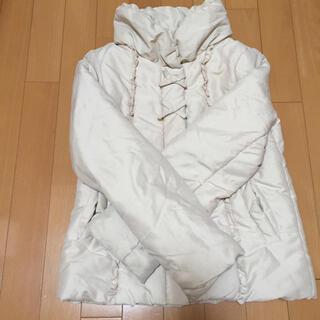 イオン(AEON)のダウンジャケット ダウンコート 150 トップバリュ ベージュ 女の子 ガールズ(ジャケット/上着)