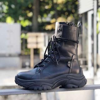 アッシュ(ASH)のASH 【ARMY】BL チャンキーレースアップブーツ(ブーツ)