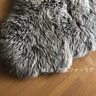 イケア(IKEA)のイケア IKEA ファーラグ SKOLD ブラウン / 暮らしの道具(ラグ)