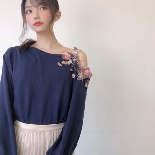 ウィルセレクション(WILLSELECTION)のフリンジ刺繍ワンショルニット ネイビー   (ニット/セーター)