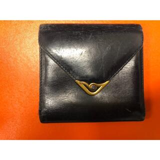 カルティエ(Cartier)のCartier カルティエ 折り財布 サファイアライン がま口 黒(折り財布)