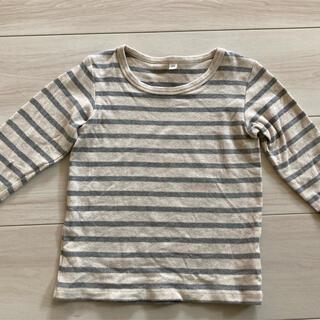MUJI (無印良品) - 無印良品ボーダーシャツ100