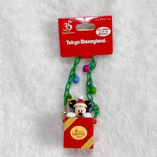 ディズニー(Disney)のディズニーリゾート35周年 クリスマス ミッキー バッグチャーム(SF/ファンタジー/ホラー)