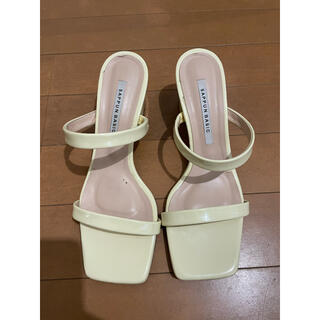 sappun basics yellow shoes 24.5cm(ハイヒール/パンプス)