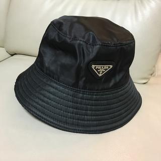 プラダ(PRADA)のPRADA  黒 帽子 ハット ノベルティ(ノベルティグッズ)