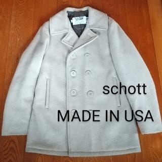 schott - ☆アメリカ製【schott】ダブルピーコート、U.S.740N、サイズ38