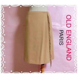 オールドイングランド(OLD ENGLAND)の【OLD ENGLAND】フリンジ巻きスカート46440円ラップスカート(ひざ丈スカート)