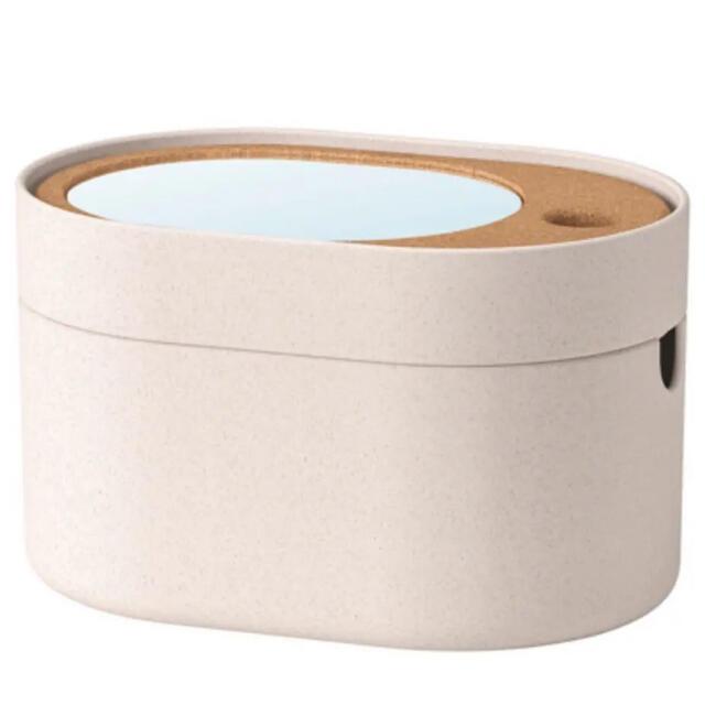ミラーつき収納ボックス、ミラーつきメイクボックス コスメ/美容のメイク道具/ケアグッズ(メイクボックス)の商品写真