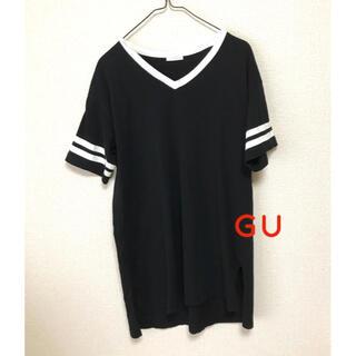 ジーユー(GU)のジーユー GU カットソー Tシャツ チュニック (カットソー(半袖/袖なし))