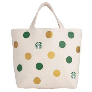 スターバックスコーヒー(Starbucks Coffee)の海外限定 スターバックス ドット柄 ドリンクホルダー エコバッグ(エコバッグ)