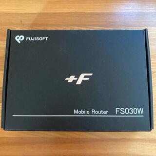 フジツウ(富士通)のモバイル wifi ルーター +F(PC周辺機器)